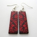 Bright red damask earrings