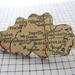 sale - vintage map cloud woodcut brooch