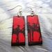 bright red ballerina earrings