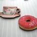Morning tea treat - woodcut magnet duo