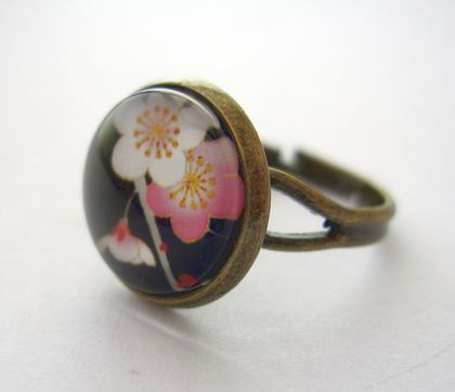 sale - cherry blossom ring