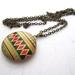 Vibrant patterned locket necklace