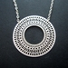 sale - Patterned circle necklace