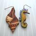 mismatched ocean earrings