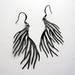 sale - Black twiggy earrings