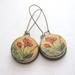 Vintage poppies earrings