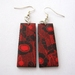 black and red poppy earrings