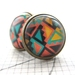 sale - fun geo brights, glass dome stud earrings