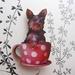 Yorkie in a teacup brooch
