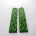 Wild garden long earrings