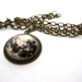 Full moon glass dome necklace