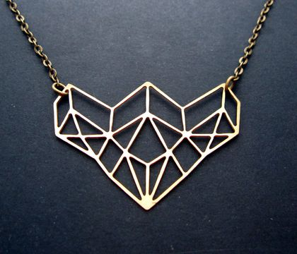 Geo bloom necklace