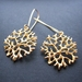 gold coral circle earrings