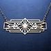 sale - Decorative brass bar necklace