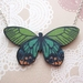 sale - Pretty butterfly necklace - greens and peach