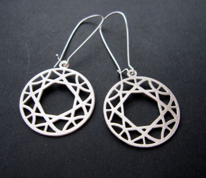 Cut out circle earrings
