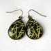 bamboo patterned teardrop earrings