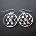 Silver floral filigree earrings