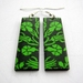 sale - wild garden earrings in apple green