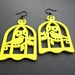 sunny yellow birdcage earrings