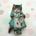 Kitsch kitty brooch - caught in the jam jar