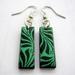 sale - Little minty patterened earrings
