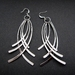 SIlver multi curve earrings