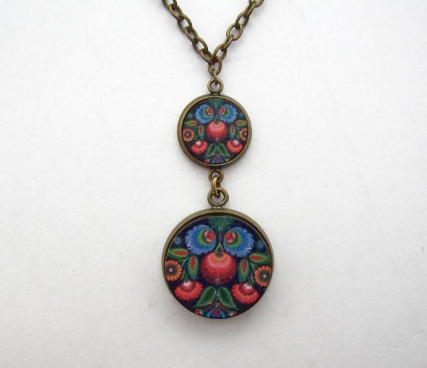 Polish folk art tiered necklace