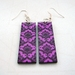 Lilac purple lotus pattern earrings