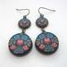 Polish folk art tiered earrings