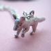 tiny fox necklace