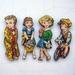 Vintage children - woodcut magnet set