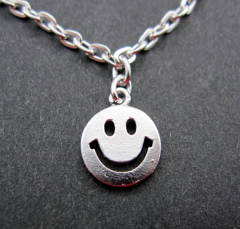 Tiny happy face necklace