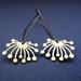 abstract dandelion outline earrings