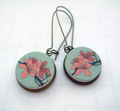 sale - Plum blossom earrings
