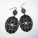 polish folk art and filigree drop earrings