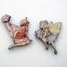 Flower fairies - woodcut magnet duo