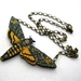 Dead head moth necklace