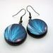 butterfly wing earrings - version 2