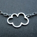 Cloud necklace - silver lining