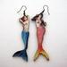 mismatched mermaid earrings