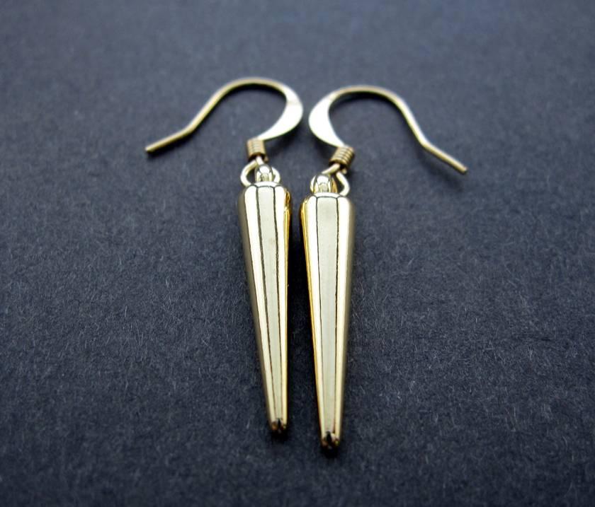 gold spike earrings