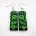 sale - wild garden earrings in apple green