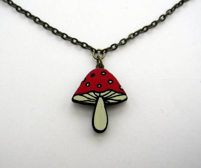 Lil' mushroom necklace
