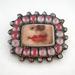 Victorian lips brooch