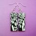 gasmask earrings
