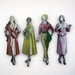 Mid century models - woodcut magnet set
