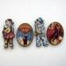 Vintage circus - woodcut magnet set