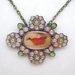Victorian lips necklace