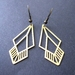 brass cut out earrings